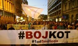 Protest Jedan od pet miliona: Podrška Obradoviću, stručnjaku iz Krušika