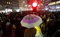 Protestanti u Beogradu zatražili smene u RTS-u i otkrivanje ubica Ivanovića