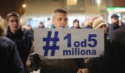 Protest Jedan od pet miliona prvi put u Knjaževcu, 14. februara