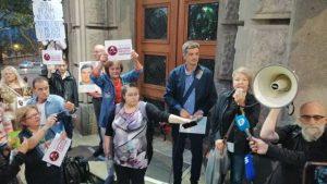 Protest Novinari protiv fantoma: Srbija mora da oslobodi medije (VIDEO, FOTO)