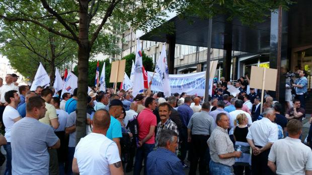 Protest Zlatiboraca u Beogradu