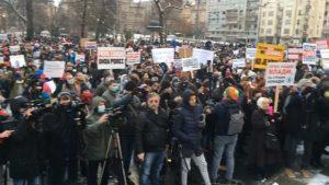 Protest frilensera u Beogradu: Porez da, pljačka ne (VIDEO)