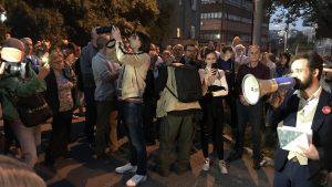 Protest ispred kapije Centralnog zatvora, podrška radniku Krušika