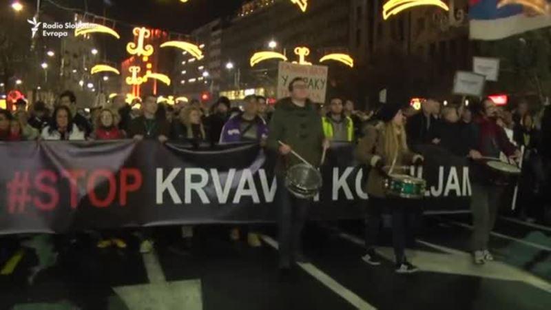 Protest opozicije i građana u Beogradu