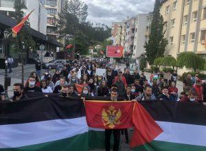 Protest podrške Palestini u Bijelom Polju