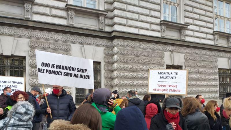 Protest preduzetnika u Beogradu zbog izostanka državne pomoći