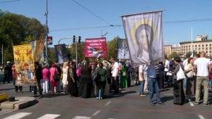 Protest protiv Parade ponosa