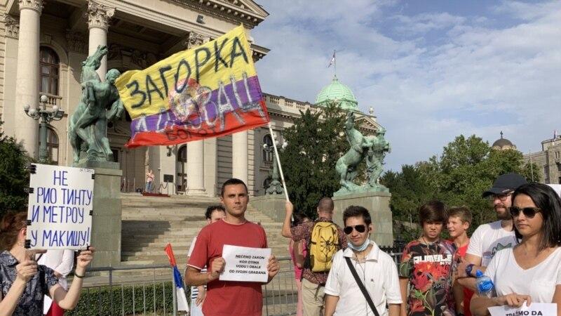 Protest u Beogradu protiv Zakona o vodama