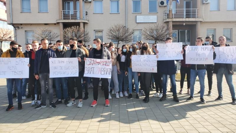Protest u Gračanici zbog pritvaranja učesnika masovne tuče