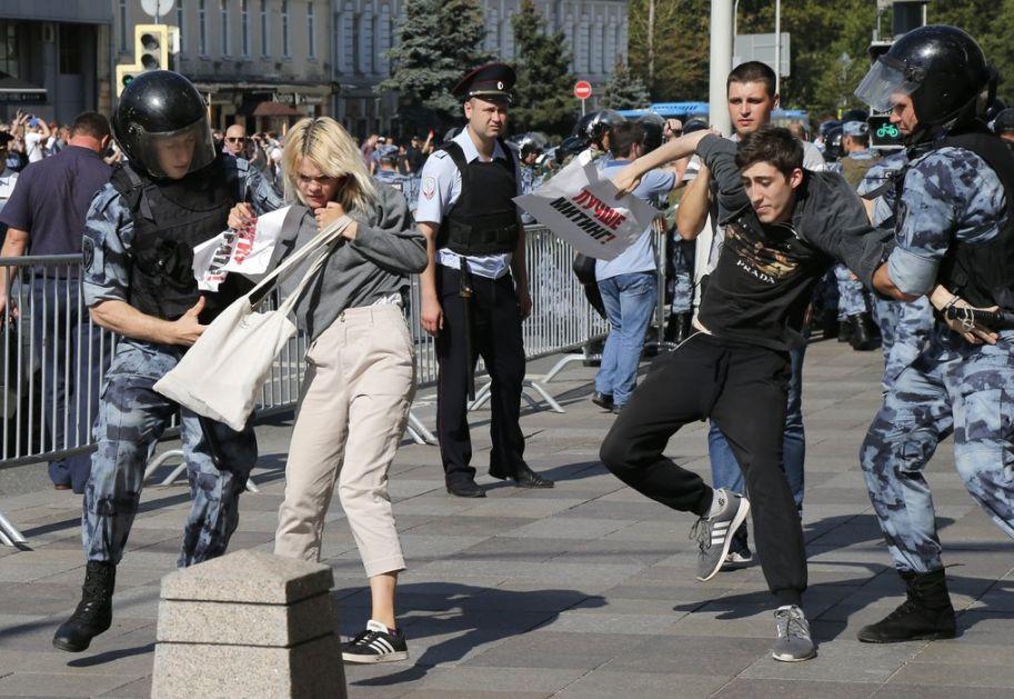 Uhapšeno hiljadu učesnika nedozvoljenog protesta u Moskvi