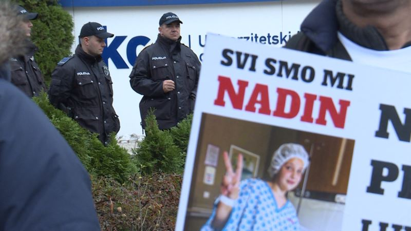 Protest u Sarajevu zbog slučaja liječenja Nadin Smajlović