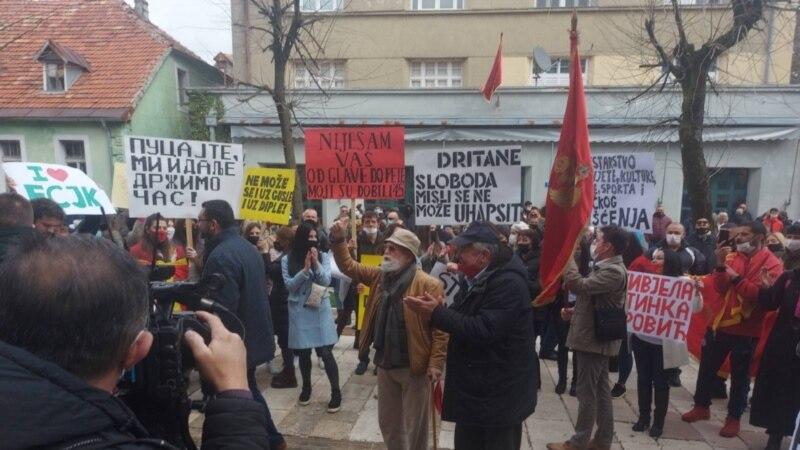 Protest zaposlenih sa Fakulteta za crnogorski jezik i književnost