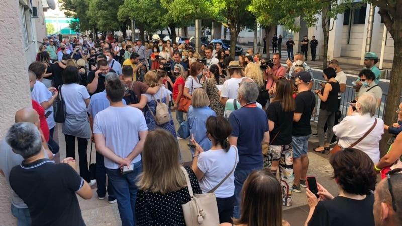 Protest zaposlenih u kulturi ispred Vlade Crne Gore
