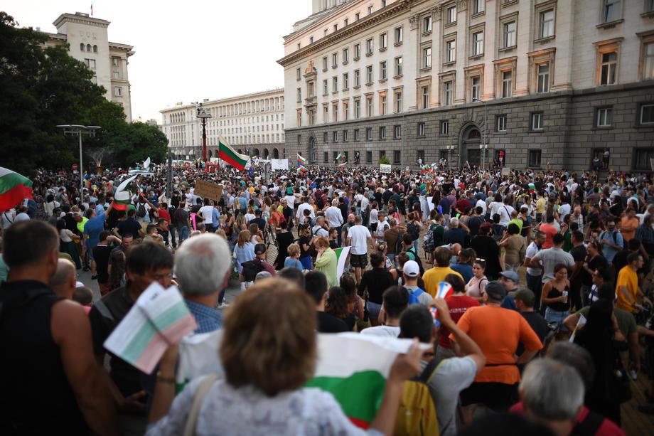 Protesti ispred ambasade Nemačke u Sofiji
