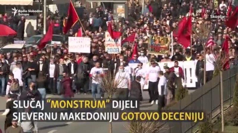 Protesti na ulicama Skoplja zbog presude u slučaju Monstrum