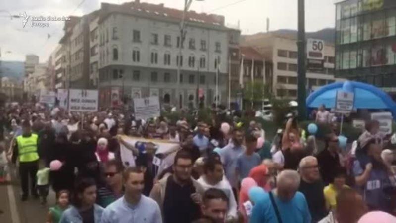 Protestna šetnja zbog Povorke ponosa u Sarajevu