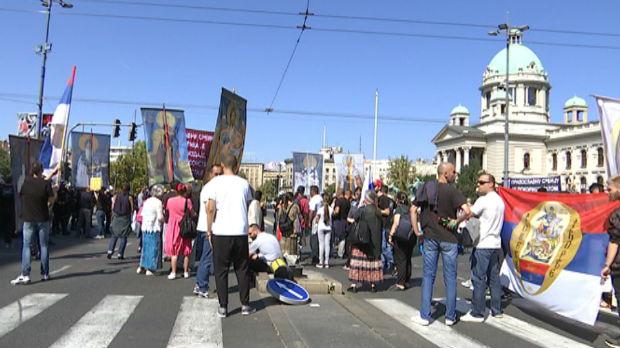 Protivnici Parade ponosa blokirali centar grada