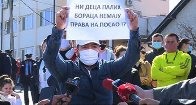 Prvi protest Srba na KiM protiv nepotizma od osnivanja Srpske liste!