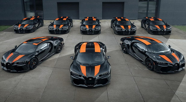 Prvih osam Bugattija Chiron Super Sport 300+ spremno za isporuku
