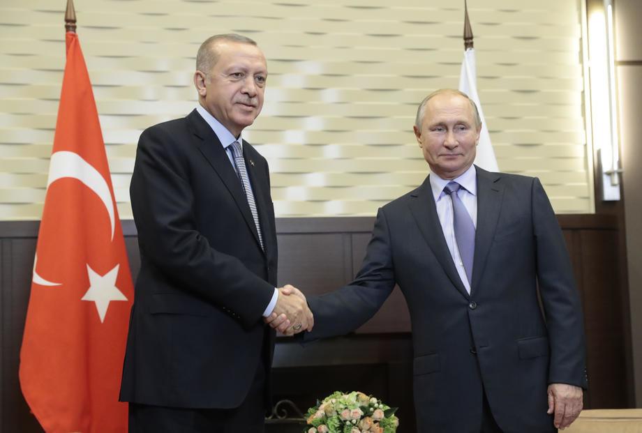 Putin i Ergodan će razgovarati o ponudi Ankare Libiji