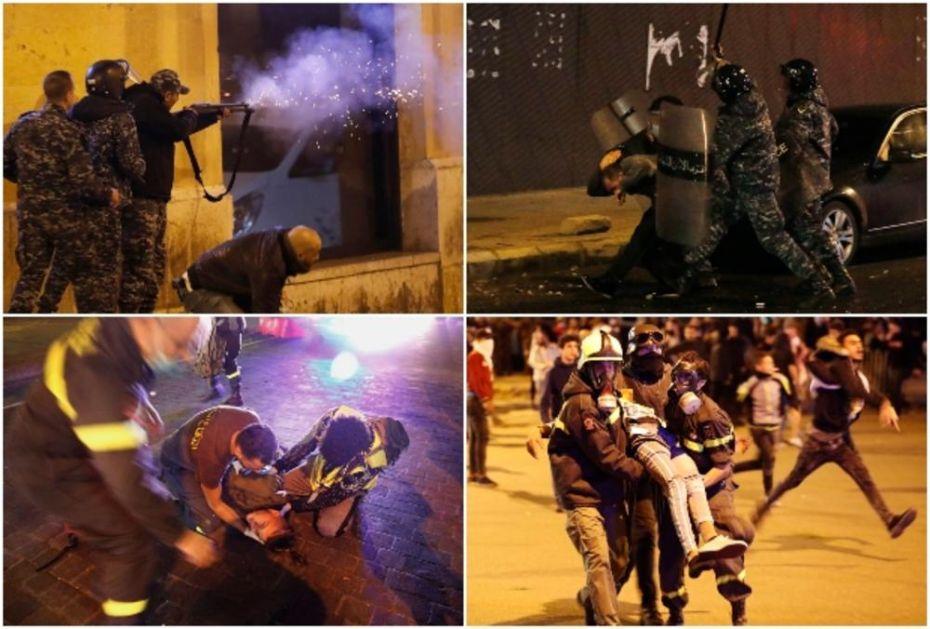 RAT U BEJRUTU: Policajci tukli demonstrante, zasuli ih suzavcem i vodenim topovima (FOTO, VIDEO)