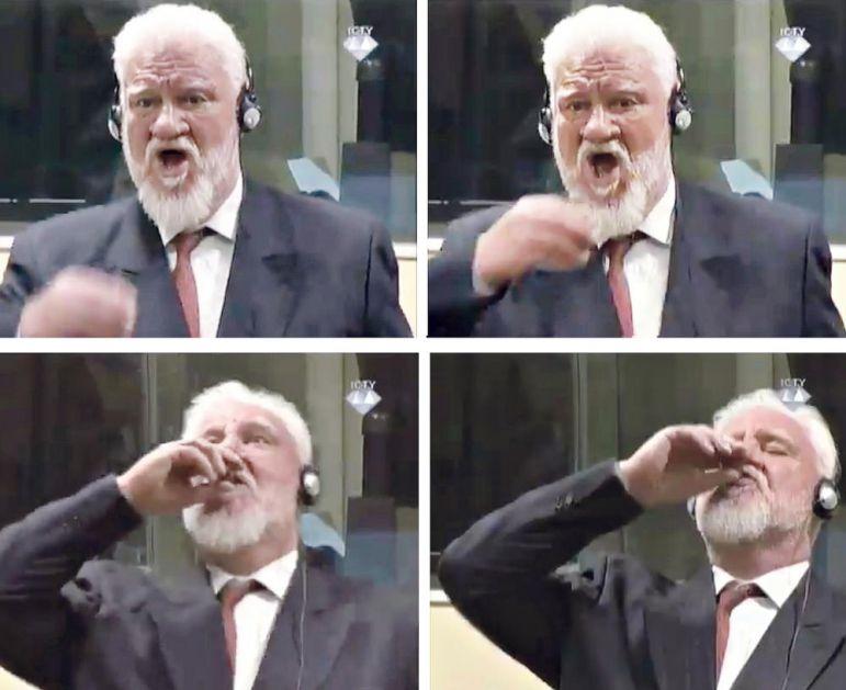 REŠENA MISTERIJA SAMOUBISTVA U HAŠKOJ SUDNICI: Otkriveno kako je unesen cijanid kojim se OTROVAO HRVATSKI GENERAL Slobodan Praljak!