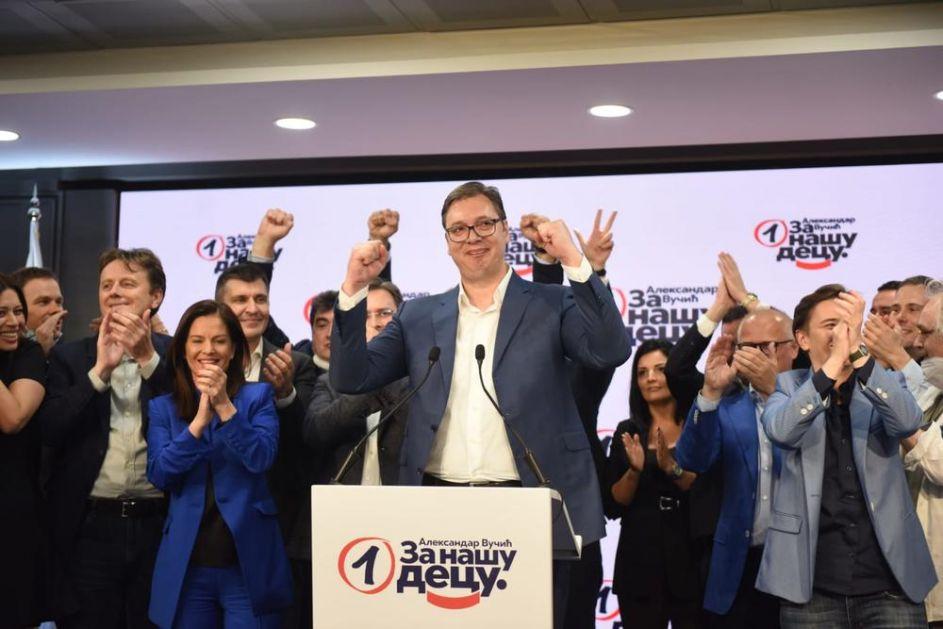RIK SAOPŠTIO ZVANIČNE REZULTATE: SNS dobio 60,65 odsto glasova i 188 mandata u Skupštini