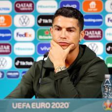 RONALDO NALJUTIO UEFA: Doneto pravilo o sklanjanju pića na konferencijama za medije