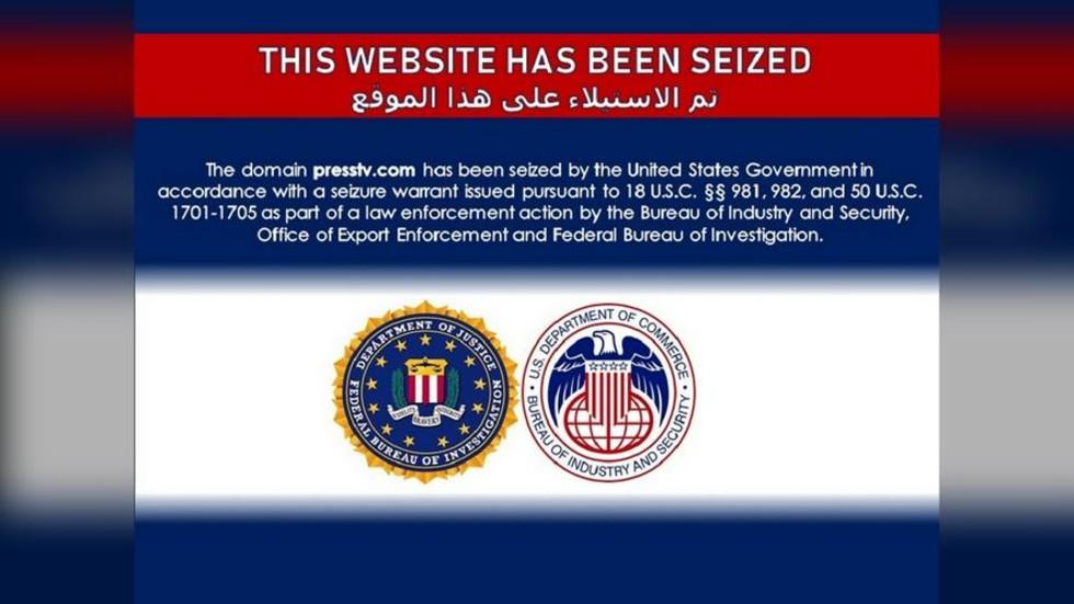 """RT: Američka vlada """"zaplenila"""" domene iranskog """"Pres TV"""" i mnogih drugih medija"""