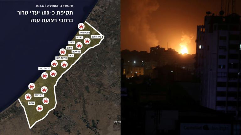 """RT: Izrael gađao 100 """"terorističkih ciljeva"""" u Gazi kao odgovor na raketne napade - Tel Aviv"""