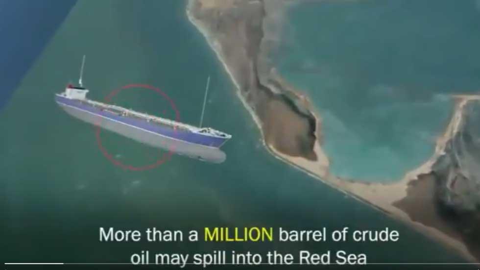"""RT: """"Tempirana bomba"""": Napušteni tanker u Crvenom moru bi mogao eksplodirati i ispustiti milion barela nafte u okean"""