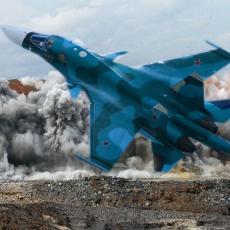 RUSKA AVIJACIJA JE NOĆNA MORA ISIS-a: Bombarderi razneli terorističku bazu u blizini Palmire (VIDEO)