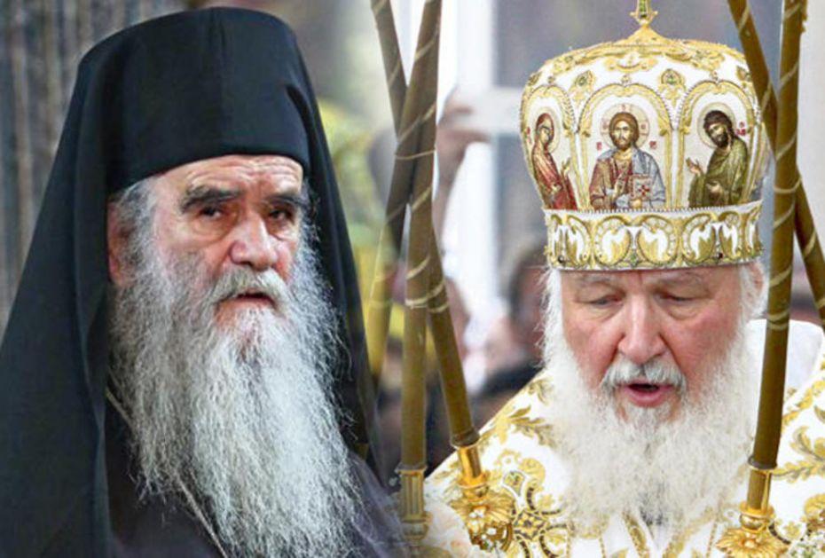RUSKI PATRIJARH KIRIL SE OPROSTIO OD MITROPOLITA AMFILOHIJA: On će ostati neustrašivi branilac Svete Crkve Hristove!