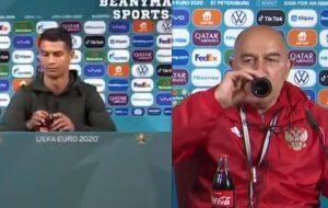 RUSKI SELEKTOR UDARIO RONALDU KONTRU: Otvorio je flašicu koka-kole kao da je ispred prodavnice, a onda je potegao! (VIDEO)