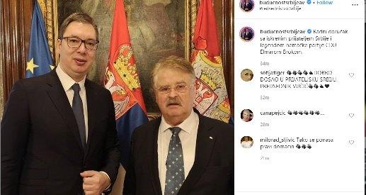Radni doručak Vučića sa Elmarom Brokom, legendom nemačke CDU