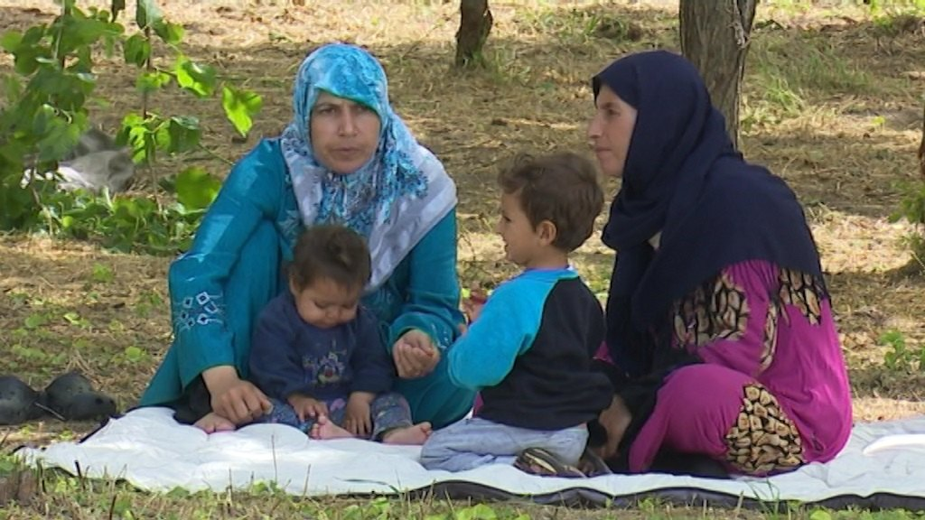 Razmeštanje migranata blizu granice sa Hrvatskom