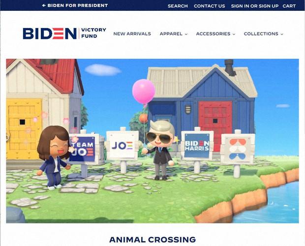 Reklama za Bajdena i u video-igrici Animal Crossing