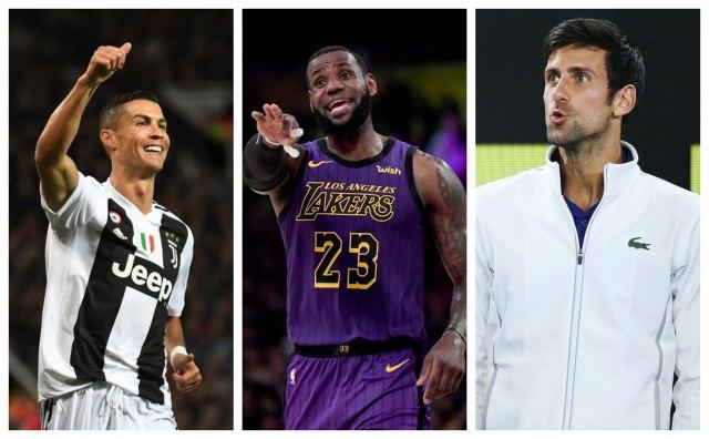 Ronaldo, Lebron na vrhu, Novak 20. najpoznatiji sportista sveta