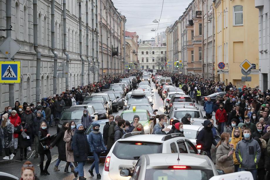 Ruska policija privela više od 1.700 pristalica Navaljnog