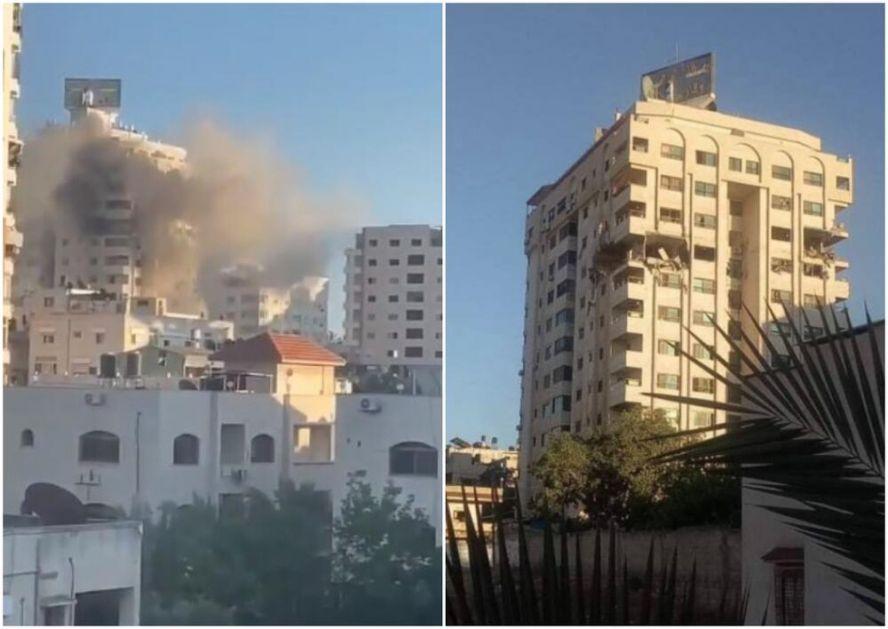 SAD CILJANO GAĐAJU STANOVE I SPRATOVE: Ovako je bombardovana još jedna višespratnica u Gazi VIDEO