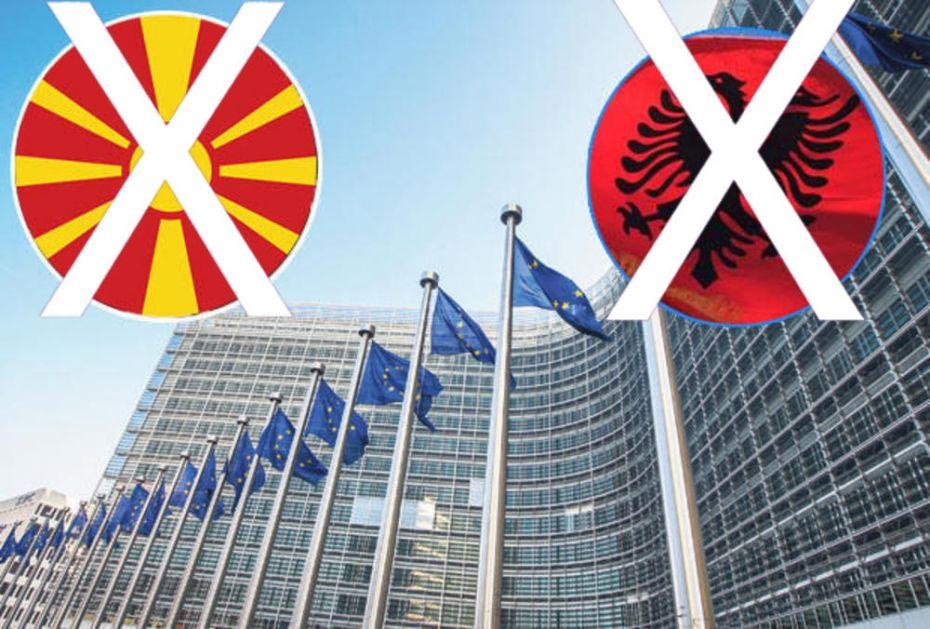 ŠAMARČINA BRISELA ZA SKOPLJE I TIRANU: Ništa od pristupnih pregovora sa Albanijom i Severnom Makedonijom