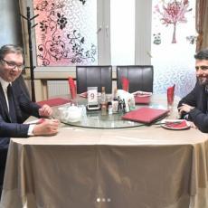 SARADNJA ZA DOBROBIT SRBIJE: Predsednik Vučić na radnom ručku sa Aleksandrom Šapićem
