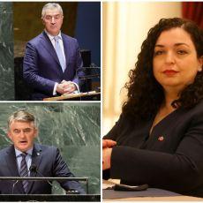 SASTALA SE CRNA TROJKA: Osmani, Đukanović i Komšić kuju opake planove za Kosmet u Americi
