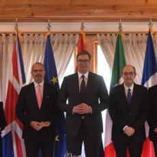 SASTANAK NA NAJVIŠEM NIVOU: Vučić se sastao sa ambasadorima zemalja Kvinte