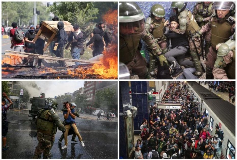 SITUACIJA U ČILEU SVE DRAMATIČNIJA: Za 5 dana poginulo 15 ljudi, policija koristila suzavac i vodene topove, demonstranti ih gađali kamenicama! (VIDEO)