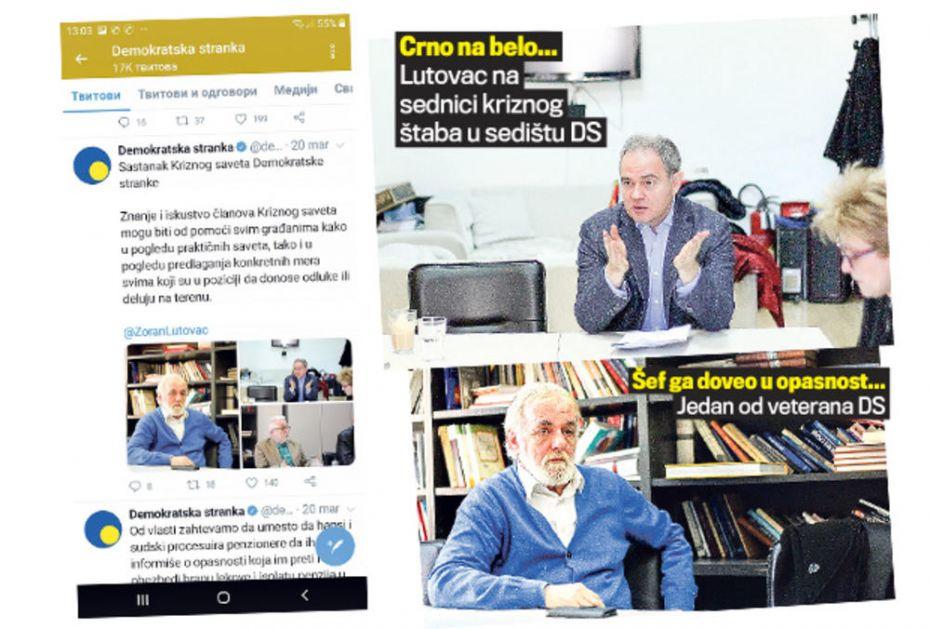 SKANDAL! ZORAN LUTOVAC UGROZIO ŽIVOTE SARADNIKA: Ipak nije u izolaciji, imao sastanak sa starijima od 65 godina!