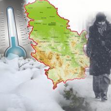 SLEDI NAGLA PROMENA VREMENA: Ciklon večeras donosi zahlađenje, JAKU KIŠU I DOSTA SNEGA