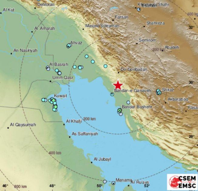 SNAŽAN ZEMLJOTRES U IRANU Potres jačine 5,9 stepeni pogodio provinciju Bušer