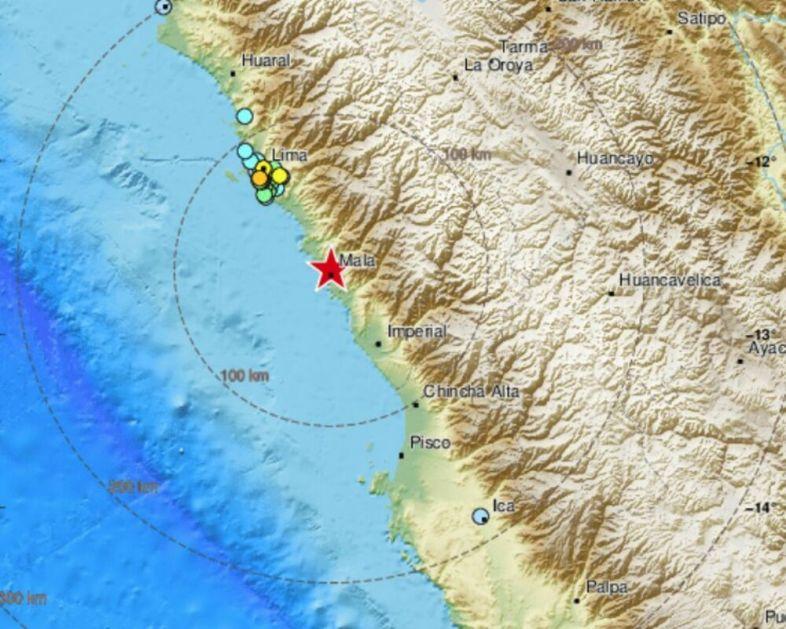 SNAŽAN ZEMLJOTRES U PERUU: Tlo se trese već 10 sati, zabeležen potres od 5,7 stepeni