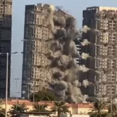 SNIMAK KOJI JE OBIŠAO SVET: Četiri tornja u Abu Dabiju srušena za 10 SEKUNDI kao kula od karata! (VIDEO)